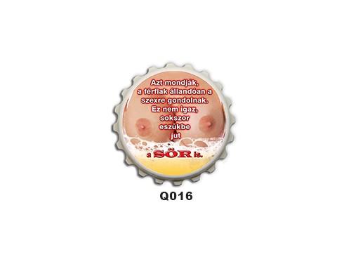 (Q016) Kupak mágnes 8 cm - Azt mondják a férfiak – Ivós Ajándékok