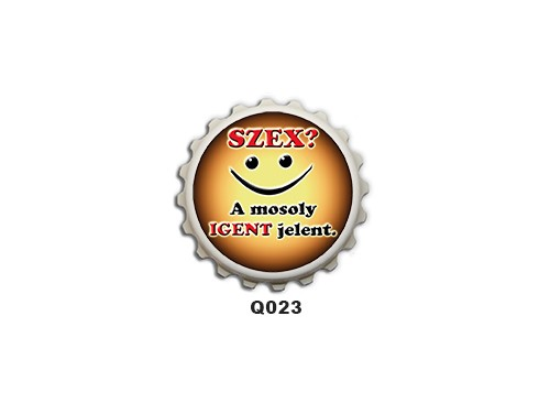 (Q023) Kupak mágnes 8 cm - Szex? – Vicces Ajándékok