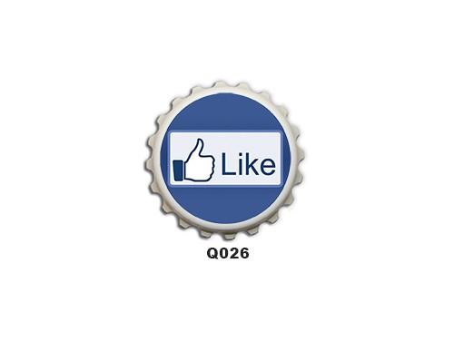 (Q026) Kupak mágnes 8 cm - Like – Vicces Ajándékok