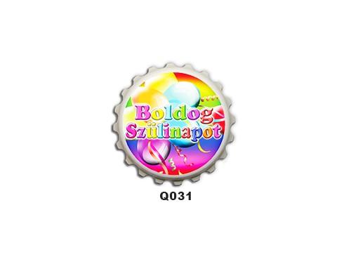 (Q031) Kupak mágnes 8 cm - Boldog szülinapot lufis – Szülinapi Ajándékok