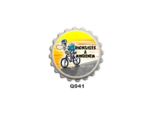 (Q041) Kupak mágnes 8 cm - Biciklizés a mindenem – Biciklis Ajándékok
