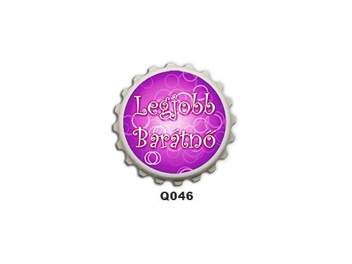 (Q046) Kupak mágnes 8 cm - Legjobb barátnő – Ajándék Legjobb Barátnőnek