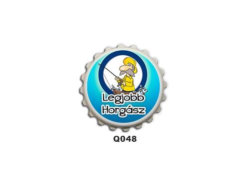 (Q048) Kupak mágnes 8 cm - Legjobb horgász – Ajándék Horgászoknak