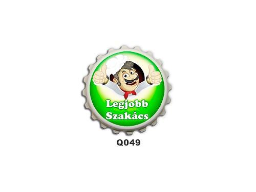 (Q049) Kupak mágnes 8 cm - Legjobb szakács – Ajándékok Szakácsoknak