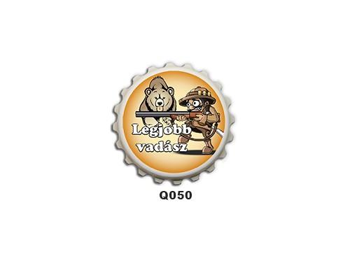 (Q050) Kupak mágnes 8 cm - Legjobb vadász – Ajándék Vadászoknak
