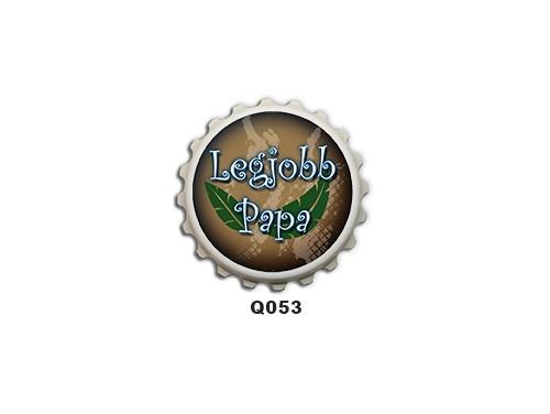 (Q053) Kupak mágnes 8 cm - Legjobb papa – Ajándékok Nagypapáknak