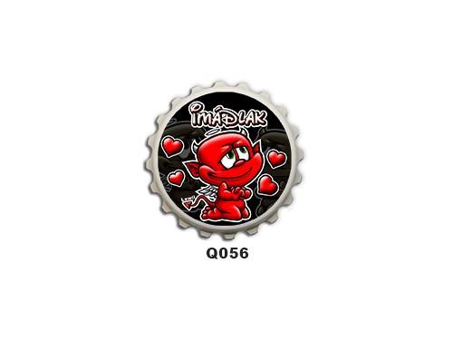(Q056) Kupak mágnes 8 cm - Imádlak ördög – Szerelmes Ajándékok