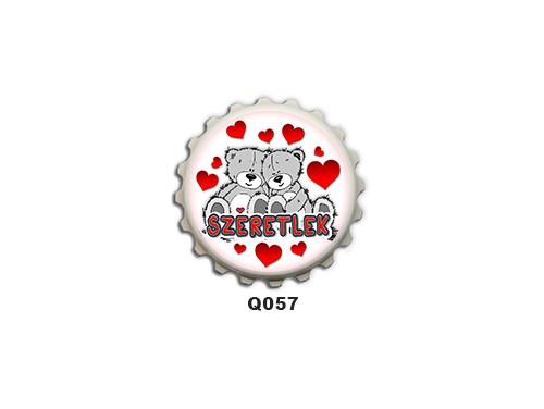 (Q057) Kupak mágnes 8 cm - Maci pár – Szerelmes Ajándékok