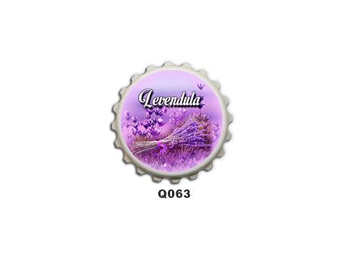 (Q063) Kupak mágnes 8 cm - Levendula – Levendulás ajándékok