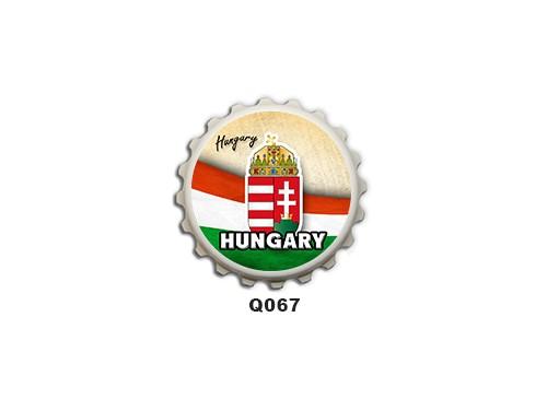(Q067) Kupak mágnes 8 cm - Hungary – Magyaros Ajándékok