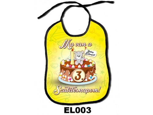 (EL003) Előke 26 cm x 32,5 cm - Ma van a 3. születésnapom! – Ajándék Babalátogatóba – Szülinapi Ajándék Babáknak