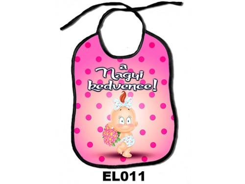 (EL011) Előke 26 cm x 32,5 cm - A nagyi kedvence – Ajándék kisbabáknak
