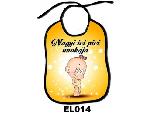 (EL014) Előke 26 cm x 32,5 cm - Nagyi ici pici unokája – Ajándék kisbabáknak