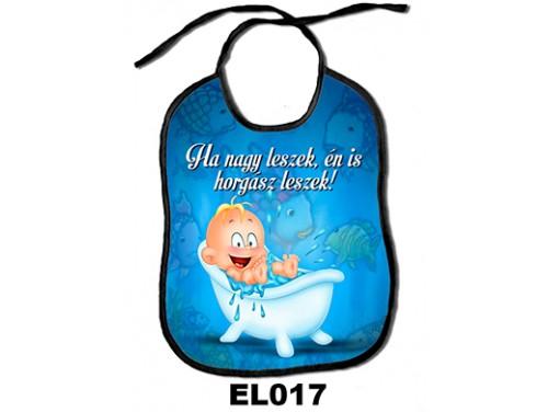 (EL017) Előke 26 cm x 32,5 cm - Ha nagy leszek, én is horgász leszek! - Ajándék kisbabáknak