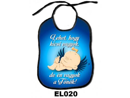 (EL020) Előke 26 cm x 32,5 cm - Lehet, hogy kicsi vagyok, de én vagyok a Főnök! – Ajándék kisbabáknak