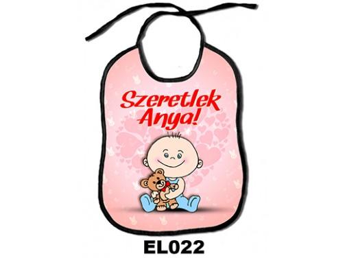 (EL022) Előke 26 cm x 32,5 cm - Szeretlek Anya – Ajándék kisbabáknak