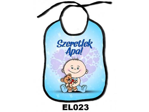 (EL023) Előke 26 cm x 32,5 cm - Szeretlek Apa! – Ajándék kisbabáknak