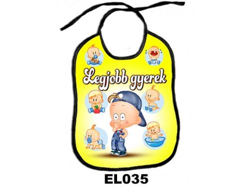 (EL035) Előke 26 cm x 32,5 cm - Legjobb gyerek – Ajándék kisbabáknak