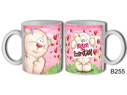 (B255) Bögre 3 dl - Táblás Pimi – Szerelemes bögre – Szerelmes pároknak ajándék