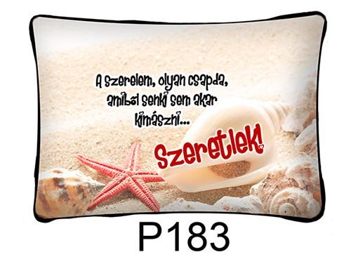(P183) Párna 37 cm x 27 cm - A szerelem olyan csapda… – Szerelmes Ajándékok