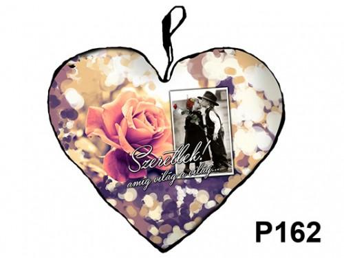(P162) Párna Nagy Szív 45cm - Szeretlek amíg világ – Szerelmes Ajándékok