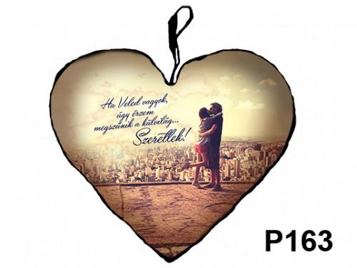 (P163) Párna Nagy Szív 45cm - Ha Veled vagyok – Szerelmes Ajándékok
