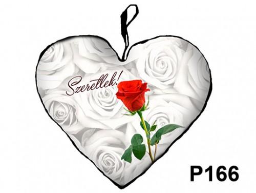 (P166) Párna Nagy Szív 45cm - Rózsás Szeretlek – Szerelmes Ajándékok