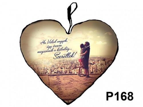 (P168) Párna Kis Szív 25cm - Ha Veled vagyok – Szerelmes Ajándékok