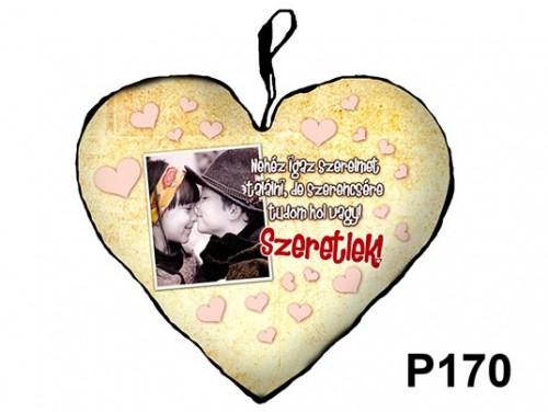 (P170) Párna Kis Szív 25cm - Nehéz igaz szerelmet – Szerelmes Ajándékok