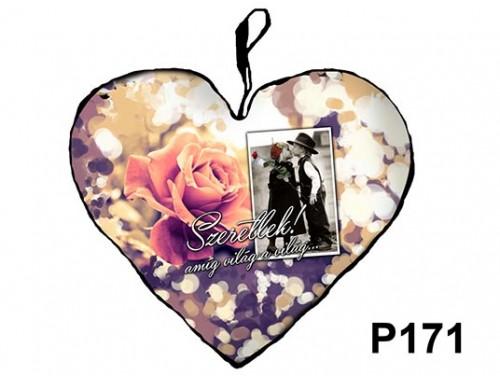 (P171) Párna Kis Szív 25cm - Szeretlek amíg világ – Szerelmes Ajándékok