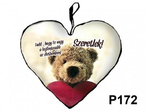 (P172) Párna Kis Szív 25cm - Te vagy a legfontosabb – Szerelmes Ajándékok