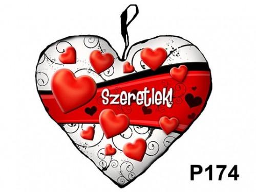 (P174) Párna Kis Szív 25cm - Szív hullám – Szerelmes Ajándékok
