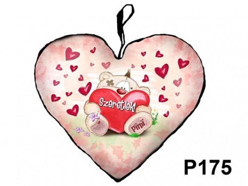 (P175) Párna Kis Szív 25cm - Ülő Pimi – Szerelmes Ajándékok