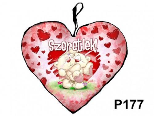 (P177) Párna Kis Szív 25cm - Pimi ölben – Szerelmes Ajándékok