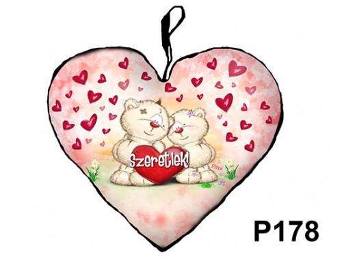 (P178) Párna Kis Szív 25cm - Pimi pár – Szerelmes Ajándékok