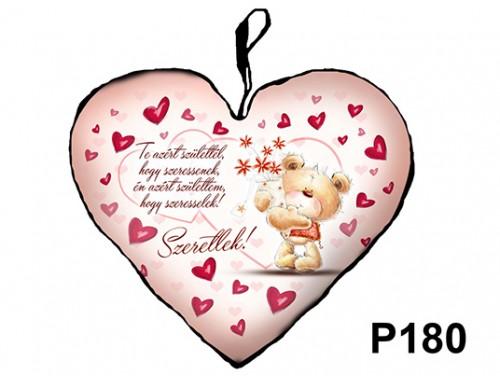 (P180) Párna Kis Szív 25cm - Te azért születtél – Szerelmes Ajándékok