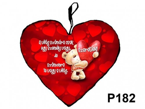 (P182) Párna Kis Szív 25cm - A világ számára – Szerelmes Ajándékok