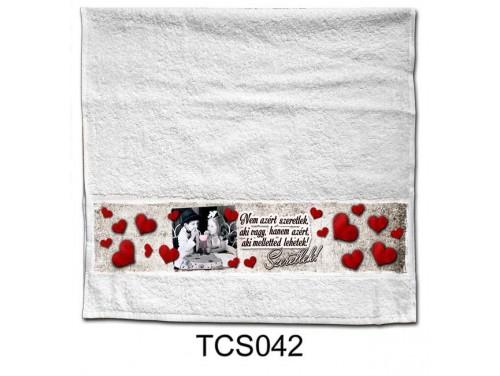 (TCS042) Törölköző 90 cm x 48 cm - Nem azért szeretlek – Szerelmes Ajándékok