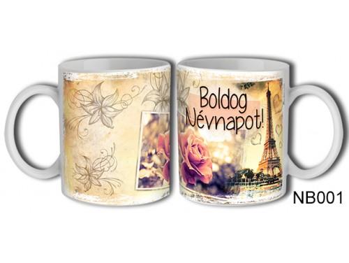 (NB001) Bögre 3 dl - Boldog Névnapot Női – Névnapi Ajándék