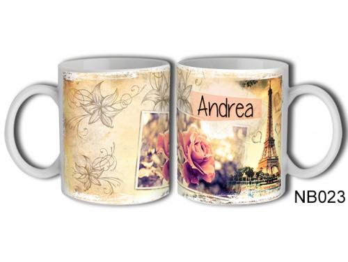 (NB023) Bögre 3 dl - Andrea – Névre Szóló Ajándék - Névnapi ajándékok