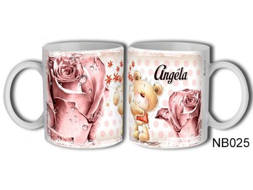 (NB025) Bögre 3 dl - Angéla – Névre Szóló Ajándék - Névnapi ajándékok
