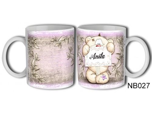 (NB027) Bögre 3 dl - Anita – Névre Szóló Ajándék - Névnapi ajándékok