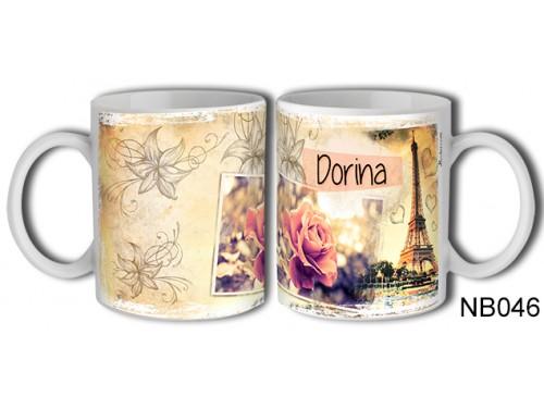 (NB046) Bögre 3 dl - Dorina – Névre Szóló Ajándék – Névnapi ajándékok