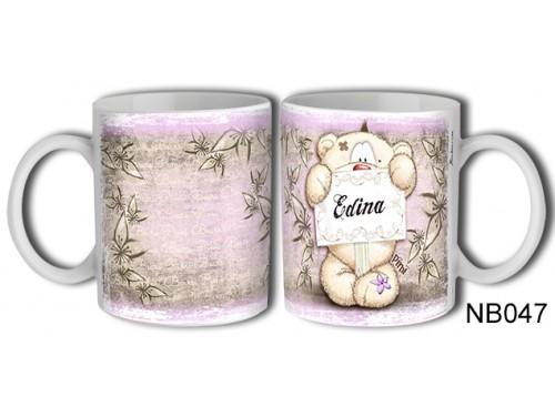 (NB047) Bögre 3 dl - Edina – Névre Szóló Ajándék – Névnapi ajándékok