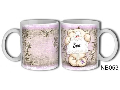 (NB053) Bögre 3 dl - Éva – Névre Szóló Ajándék – Névnapi ajándékok