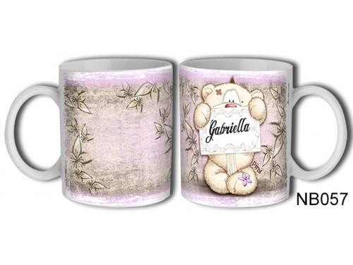 (NB057) Bögre 3 dl - Gabriella – Névre Szóló Ajándék – Névnapi ajándékok