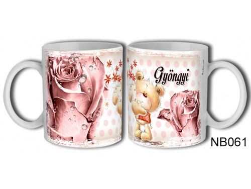 (NB061) Bögre 3 dl - Gyöngyi – Névre Szóló Ajándék – Névnapi ajándékok