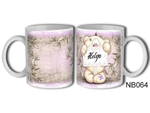 (NB064) Bögre 3 dl - Helga – Névre Szóló Ajándék – Névnapi ajándékok