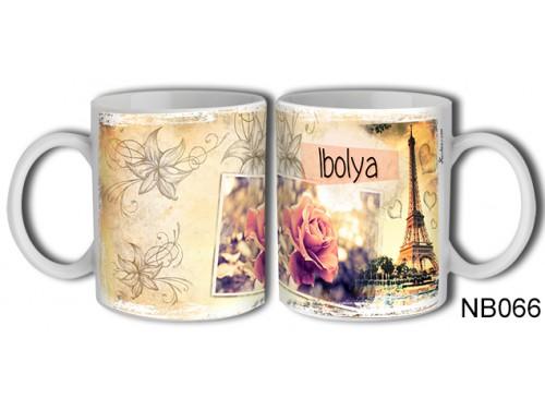 (NB066) Bögre 3 dl - Ibolya – Névre Szóló Ajándék – Névnapi ajándékok