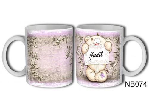 (NB074) Bögre 3 dl - Judit – Névre Szóló Ajándék – Névnapi ajándékok